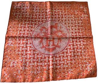 Hermes Gavroche 45 Orange Silk Scarves