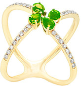 Diana M Fine Jewelry 14K 0.91 Ct. Tw. Diamond & Emerald Ring