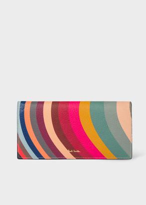 Paul Smith Women's 'Swirl' Print Leather Tri-Fold Wallet