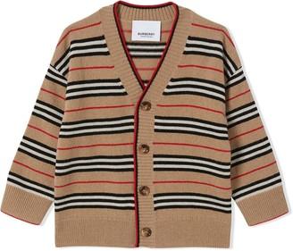 BURBERRY KIDS Icon Stripe cardigan