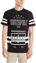 Southpole Men's Short Sleeve Graphic Tee Logo and Accent Stripes
