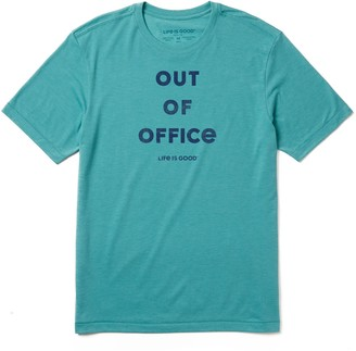Life is Good Men's Out Of Office Cool Tee
