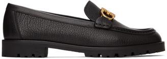 Salvatore Ferragamo Black Ready Moccasin Loafers