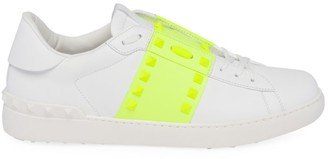 Valentino Rockstud Neon Tape Low-Top Sneakers