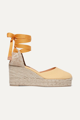 Castaner Carina 60 Canvas Wedge Espadrilles - Yellow