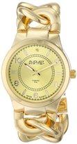 August Steiner Women's AS8112YG Swiss Quartz Diamond Gold-tone Twist Chain Bracelet Watch