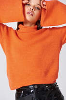 NA-KD Bell Sleeve High Neck Knitted Sweater