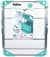 Beldray 12m 3 Tier Indoor Clothes Airer - Turqoise