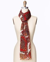 Ann Taylor Ornate Paisley Luxe Scarf