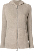 Manzoni 24 hooded knitted jacket