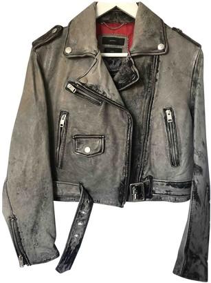 Diesel Grey Leather Jacket for Women