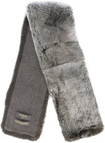 N.Peal fur neck warmer - men - Rabbit Fur/Cashmere - One Size