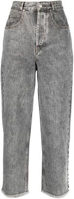 Etoile Isabel Marant Cropped Wide-Leg Jeans