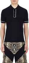 Givenchy Men's Chain-Embellished Cotton Polo Shirt