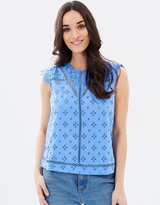 Oasis Cotton Broidere Shell Top