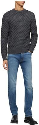 Calvin Klein Wool Blend Sweater (Gunmetal Heather) Men's Sweater