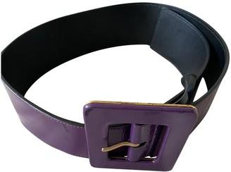 Saint Laurent Purple Patent leather Belts