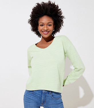 LOFT Curved Hem Sweatshirt