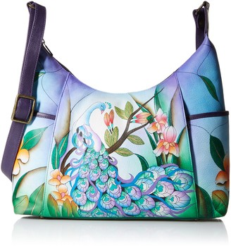 Anuschka Anna by Hand Painted Leather Women's Large Shoulder HOBO