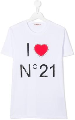 No21 Kids TEEN logo print T-shirt