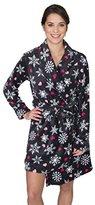 Sleep & Co Women's Plush Pajama Robe with French Bulldogs