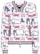 Thom Browne Jacquard Wool-blend Bomber Jacket