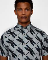 DRAGFLI Dragonfly print cotton shirt
