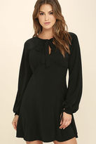 Do & Be Glorious Glam Black Long Sleeve Dress