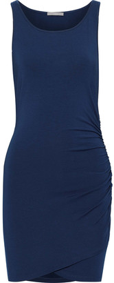 Tart Collections Genelise Ruched Stretch-modal Mini Dress