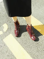 Fac Cz Ring Boots In Burgundy