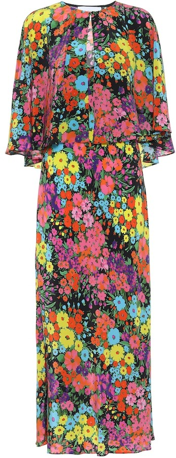 Les Rêveries Exclusive to Mytheresa Floral silk maxi dress