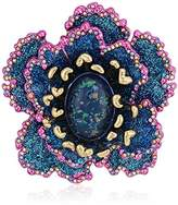 Betsey Johnson Womens Blooming Betsey and Pink Glitter Flower Brooches And Pin