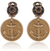 Dolce & Gabbana Embossed Anchor Earrings