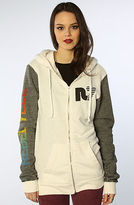 Rebel Yell The RY Blocked Unisex Hoodie in White & Black