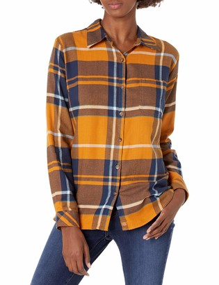 Dickies Women's Plus Size Long-Sleeve Plaid Flannel Shirt