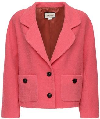 Gucci Single Breasted Wool Tweed Blazer