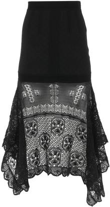 Alexander McQueen Lace Midi Skirt