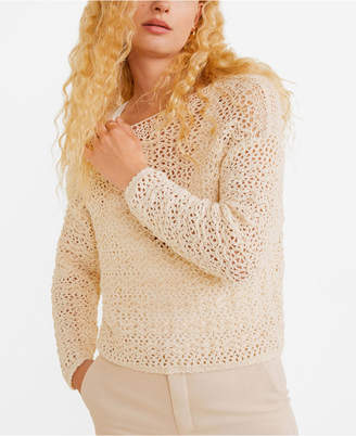 MANGO Open-Knit Sweater