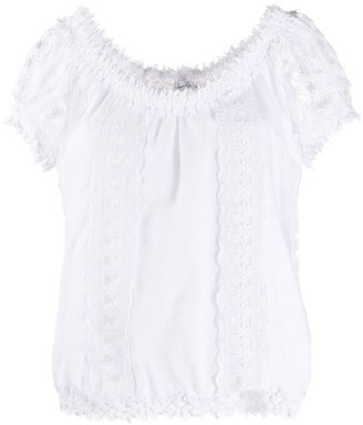 Charo Ruiz Ibiza Short-Sleeve Lace Blouse