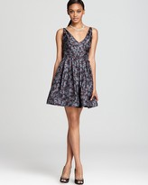 Z Spoke Zac Posen V Neck Dress - Stained Glass Print