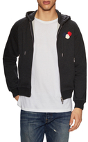 Moncler Logo Patch Zip Front Hoodie