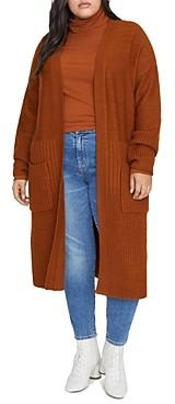 Sanctuary Curve Mixed-Knit Duster Cardigan