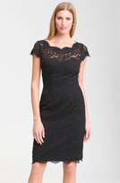 Monique Lhuillier Lace Overlay Sheath Dress