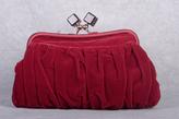 Crimson Velvet Frame Purse
