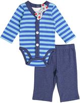 Vitamins Baby Navy Bodysuit Set - Infant
