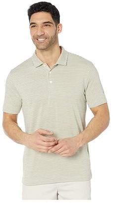 Puma Caddie Stripe Polo (Vibrant Orange Heather) Men's Short Sleeve Pullover