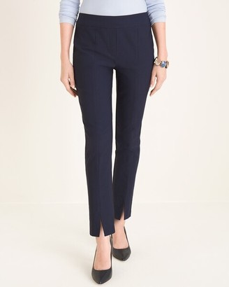 Chico's Front-Slit Slim Ankle Pants