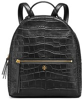 Tory Burch Croc-Embossed Mini Backpack