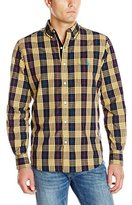 U.S. Polo Assn. Men's Button Down Plaid Poplin Sport Shirt