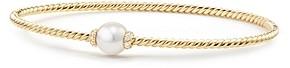 David Yurman Solari Station Bracelet with Cultured Akoya Pearl & Diamonds in 18K Gold